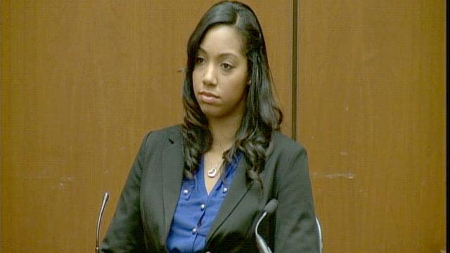 PHOTO:Bridgette Morgan takes the stand at the Conrad Murray trial, Oct. 3, 2011.