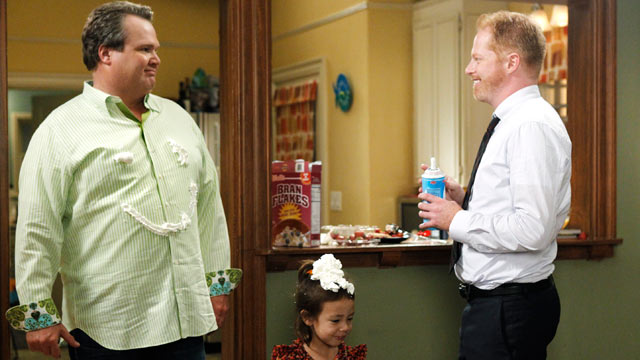 """PHOTO:Eric Stonestreet and Jesse Tyler Ferguson star as Cam and Mitchell in """"Modern Family""""."""