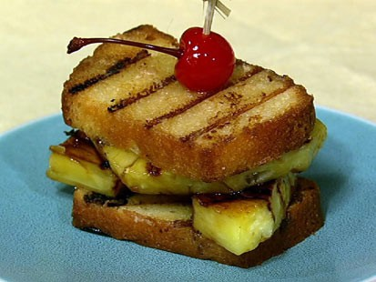 PHOTO: Carla Halls grilled pineapple upside down sandwich is shown here.