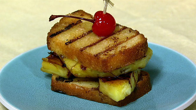 PHOTO: Carla Hall's grilled pineapple upside down sandwich is shown here.