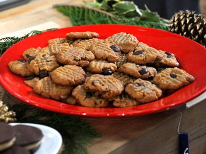 PHOTO:  Emerils gluten-free peanut butter-chocolate chip cookies are shown here.