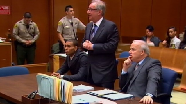 VIDEO: Chris Brown was in a Los Angeles court to face accusations that he violated his probation.