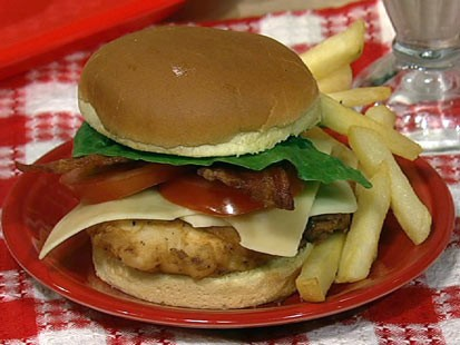 PHOTO: Clinton Kellys chicken club sandwich is shown here.