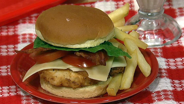PHOTO: Clinton Kelly's chicken club sandwich is shown here.