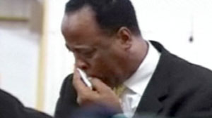 Conrad Murray in church