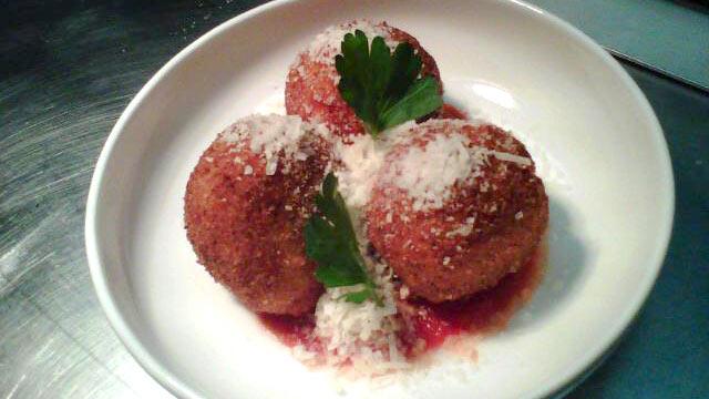 PHOTO: Chef Lauren Hirschberg's pecorino risotto balls are shown here.