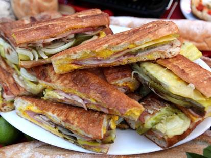 PHOTO: Emerils Cuban sandwich recipe is shown here.