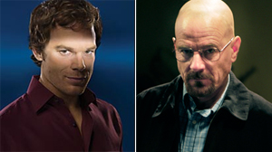 """PHOTO Michael C. Hall is shown in a scene from """"Dexter,"""" left./Bryan Cranston is shown in a scene from """"Breaking Bad,"""" right."""