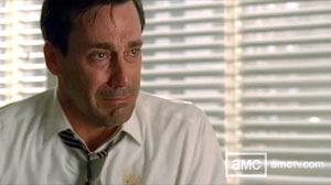 PHOTO Mad Mens Don Draper is shown during a recent episode when the character let out a flood of tears and sobs.