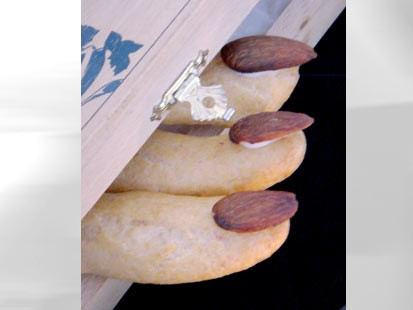 PHOTO: Pictured here are Eclair Fingers for Spot Dessert Bars spooky desserts.