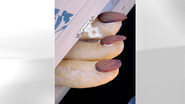 "PHOTO: Pictured here are Eclair Fingers for ""Spot Dessert Bar""'s spooky desserts."