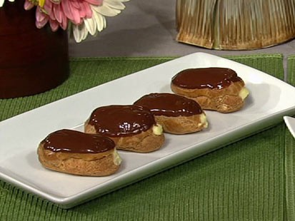 PHOTO: Gail Simmons eclairs with hazelnut creme are shown here.