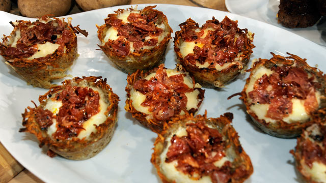 PHOTO: Sunny Anderson's eggs in baskets recipe is shown here.
