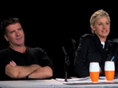 Video: Ellen DeGeneres makes her debut on American Idol.