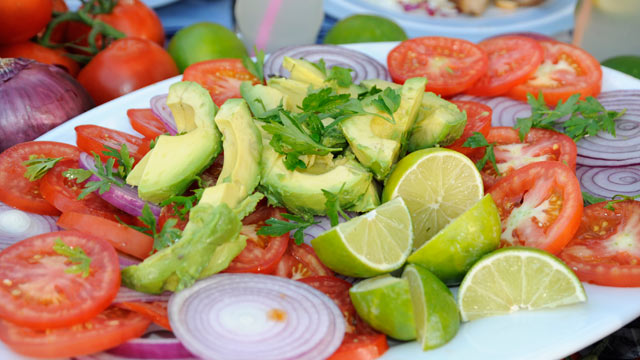 PHOTO: Emeril's Avocado, Tomato and Vidalia Onion Salad is seen here in this undated photo.