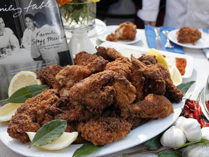 PHOTO: Michael Romanos fried chicken recipes is shown here.