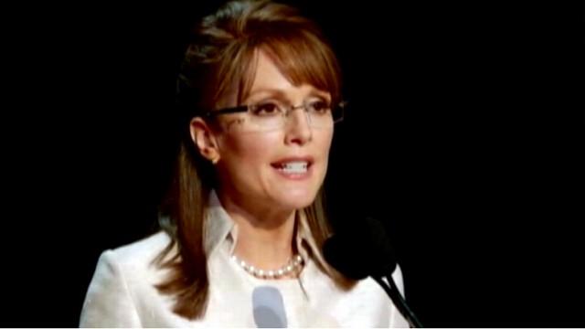 VIDEO: Ed Harris, Julianne Moore star as the 2008 GOP presidential ticket.