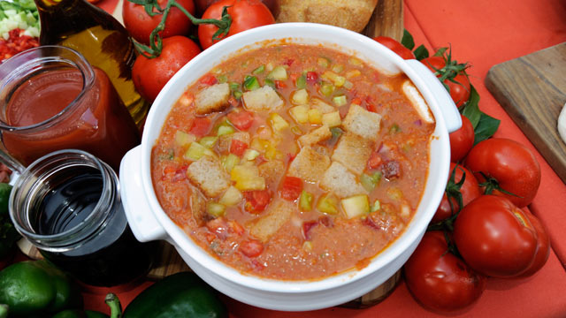 PHOTO: Mario Batali's mom's gazpacho is shown here.