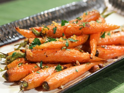 PHOTO: Daphne Ozs ginger-glazed carrots are shown here.