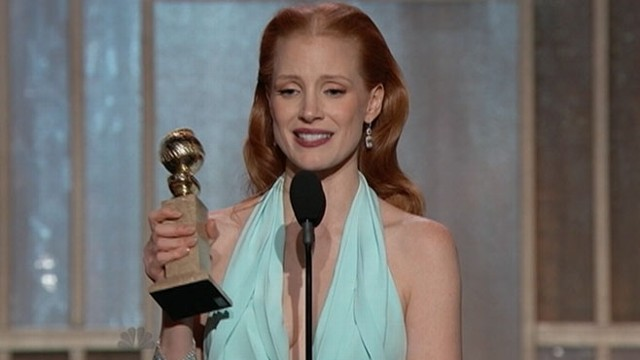 VIDEO: Jessica Chastain gives her Golden Globe Awards acceptance speech.