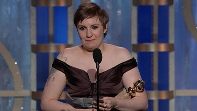VIDEO: The writer and star of the HBO show Girls makes her acceptance speech.