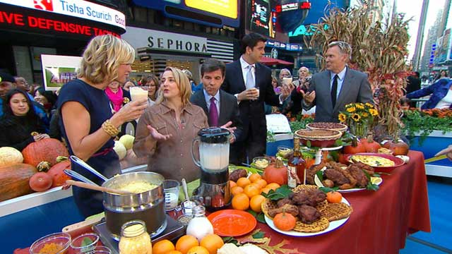 PHOTO: Elizabeth Karmel's recipes featured on GMA, Nov. 9, 2011