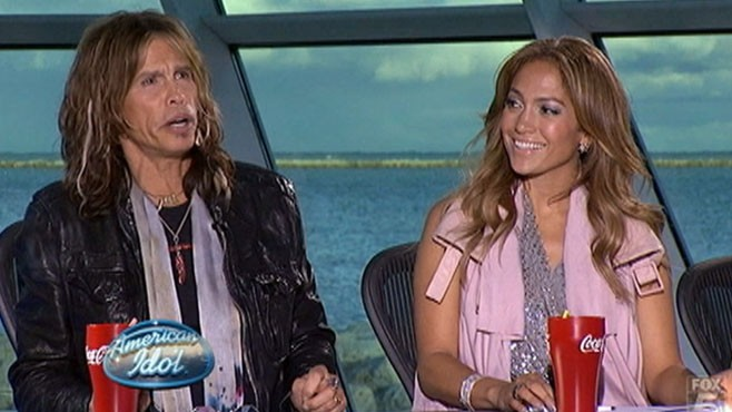 VIDEO: Jennifer Lopez and Steven Tyler take their places on the judges panel.