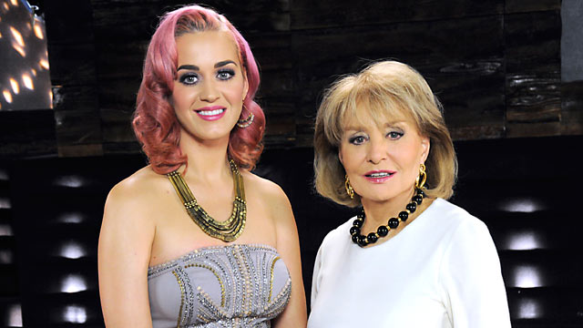 PHOTO: Barbara Walters interviews Katy Perry for her annual special airing on the ABC Television Network.