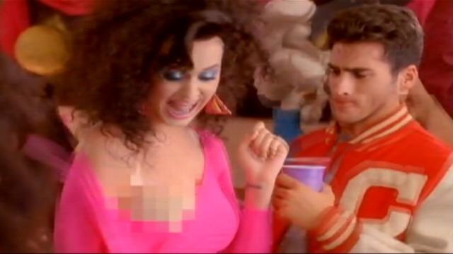 VIDEO: katy Perry spoofs Janet Jacksons wardrobe malfunction in new music video.