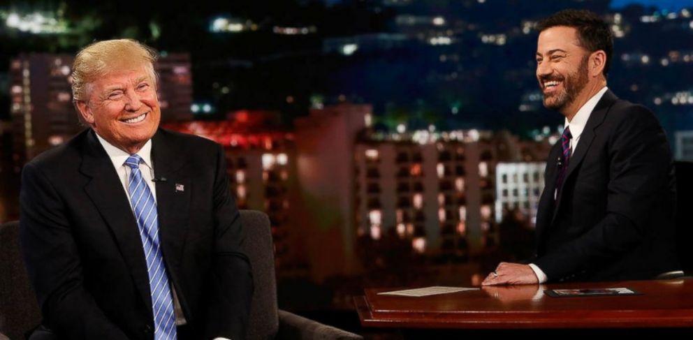 PHOTO: Donald Trump on Jimmy Kimmel Live! on May 25, 2016.