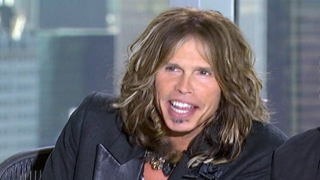 VIDEO: Steven Tyler performs a human beat box while ogling a female contestant.