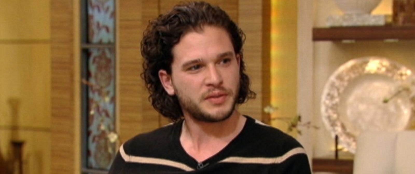 "PHOTO: Actor Kit Harington from ""Game of Thrones"" and ""How To Train Your Dragon 2"" appears on ABCs ""Live! with Kelly and Michael"" on June 10, 2014."