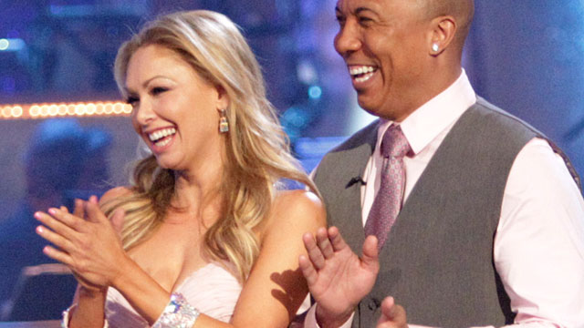 "PHOTO: Kym Johnson and Hines Ward compete in ""Dancing With The Stars"", April 26."
