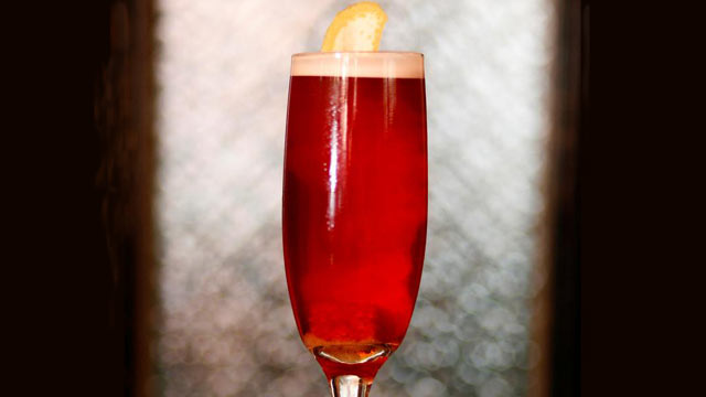 PHOTO: Dushan Zaric's campari and rose cocktail is shown here.