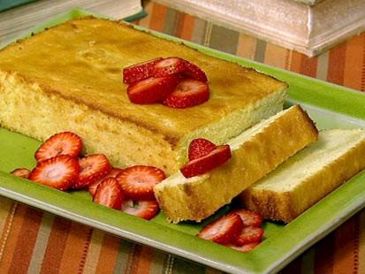 PHOTO: Michael Symons lemon polenta pound cake is shown here.