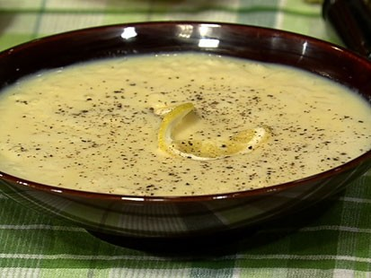 PHOTO: Michael Symons egg and lemon soup is shown here.