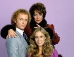 """PHOTO: Elizabeth Taylor (pictured with Anthony Geary and Genie Francis) portrayed Helena Cassadine, the vengeful and rich widow of mad scientist Mikkos, for a five-show guest stint in late 1981 on """"General Hospital."""""""