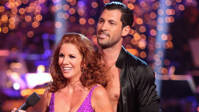 PHOTO: Melissa Gilbert and Maksim Chmerkovskiy on Dancing With the Stars, Tuesday April 3, 2012.