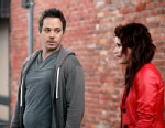 PHOTO: Michael Raymond-James, left, and Emilie De Ravin shoot a scene from the TV show Once Upon A Time.