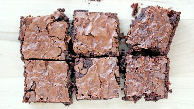 PHOTO: Erin Chase's one-bowl mocha brownies are shown here.