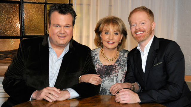 "PHOTO: Eric Stonestreet and Jesse Tyler Ferguson, stars of ""Modern Family,"" made the list of Barbara Walters ""10 Most Fascinating People of 2011."""