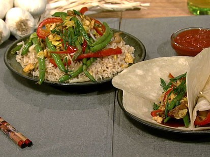 PHOTO: Daphne Ozs moo shu vegetables are shown here.