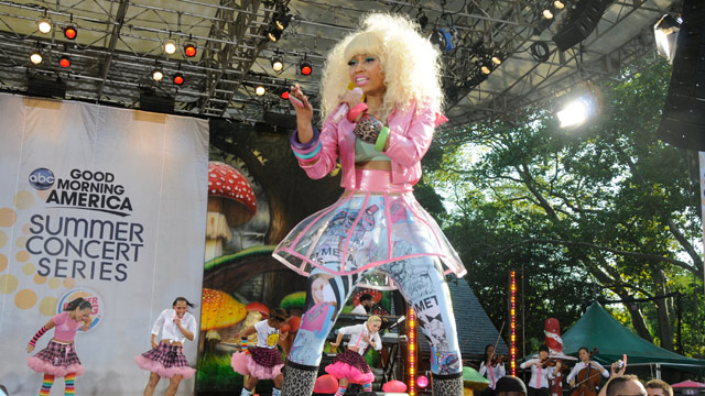 PHOTO: Nicki Minaj performs live as part of the GMA Summer Concert Series in Central Park on GOOD MORNING AMERICA, August 5, 2011.