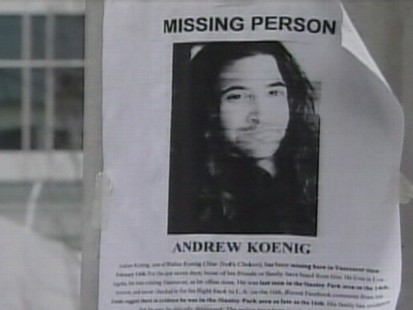 Andrew Koenigs Body is Found