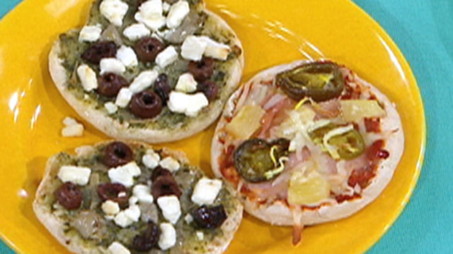 PHOTO:Matt Goulding's Mini Pesto Goat Cheese Pizzas are shown here.