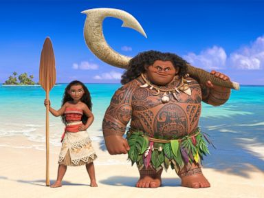 PHOTO: In Moana, Walt Disney Animation Studios upcoming big-screen adventure, a spirited teenager named Moana (left) sails out on a daring mission to prove herself a master wayfinder.