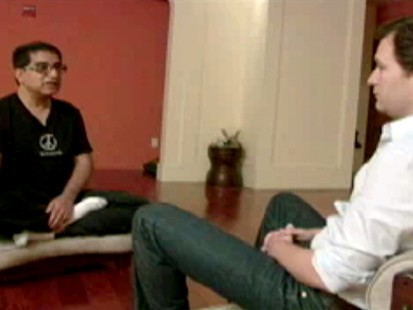 VIDEO: Dan Harris tries out Deepak Chopra?s method for meditating.