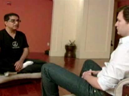 VIDEO: Dan Harris tries out Deepak Chopra?s method for meditating.