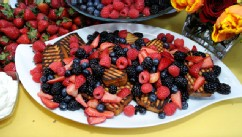 PHOTO: Rao's grilled pound cake with berries is shown here.