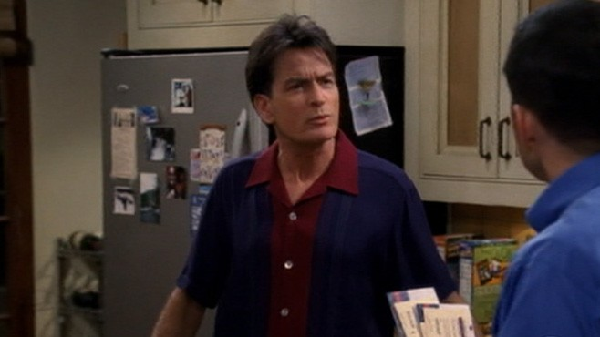 """VIDEO: Charlie Sheen endorses Rob Lowe as his """"Two and a Half Men"""" replacement."""